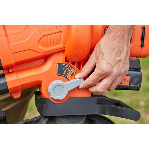 Black and Decker - Soffiatore  Aspiratore  Trituratore a batteria 36V Brushless - BCBLV3625L1