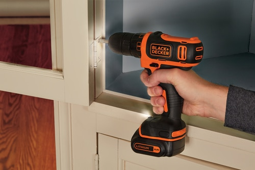 Black and Decker - TrapanoAvvitatore 108V Litio in valigetta con doppia batteria - BDCDD12KB