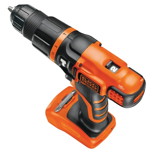 Black and Decker - TrapanoAvvitatore a percussione 18V Litio unit senza batteria e senza caricabatterie - BDCH188N