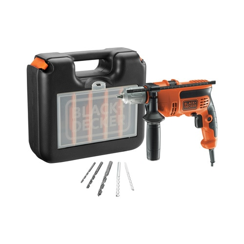 Black and Decker - Trapano a percussione 710W in valigetta con 5 accessori - CD714CRESKA