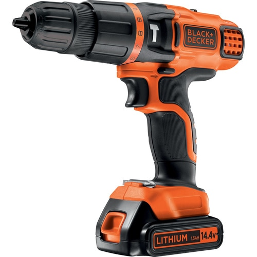 Black and Decker - TrapanoAvvitatore a percussione 144V Litio in valigetta con doppia batteria - EGBL148KB