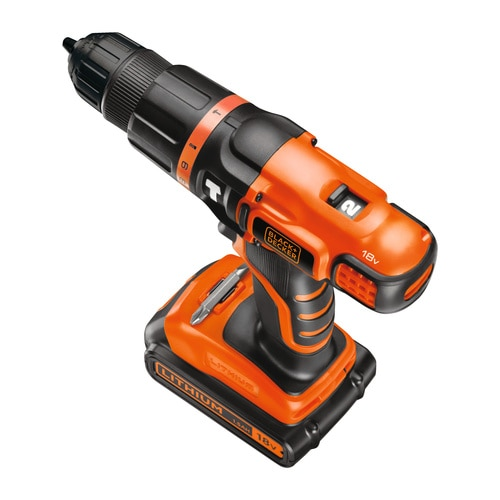 Black and Decker - TrapanoAvvitatore a percussione 18V Litio in valigetta - EGBL188K