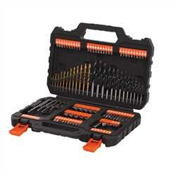 Black And Decker - Titanium set 109 pezzi per forare ed avvitare - A7200