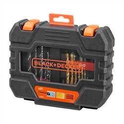 Black and Decker - Set 31 pezzi per forare ed avvitare - A7233