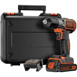 Black and Decker - TrapanoAvvitatore Autosense 18V Litio in valigetta - ASD184K
