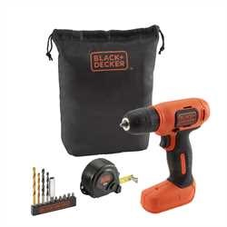 Black and Decker - TrapanoAvvitatore 72V Litio in scatola regalo con 11 accessori - BDCD8GPA