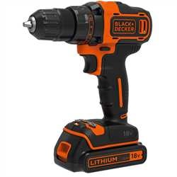 Black and Decker - TrapanoAvvitatore 18V Litio a 2 velocit meccaniche in valigetta - BDCDD186K