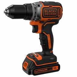 Black and Decker - TrapanoAvvitatore Brushless 18V Litio in valigetta con doppia batteria - BL186KB
