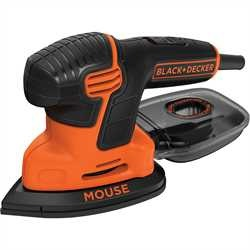 Black and Decker - Levigatrice Mouse 120W in borsa multiuso con 6 accessori - KA2000