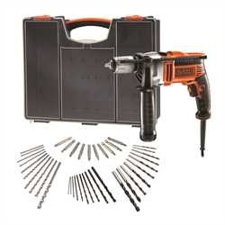 Black and Decker - Trapano a percussione 850W in valigetta premium con 40 accessori - KR806OA
