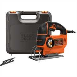 Black and Decker - Seghetto alternativo Autoselect 620W ad azione pendolare in valigetta con 2 lame - KS901SEK