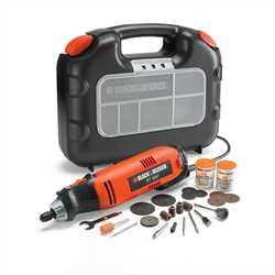 Black and Decker - Utensile rotativo in valigetta con 87 accessori - RT650KA