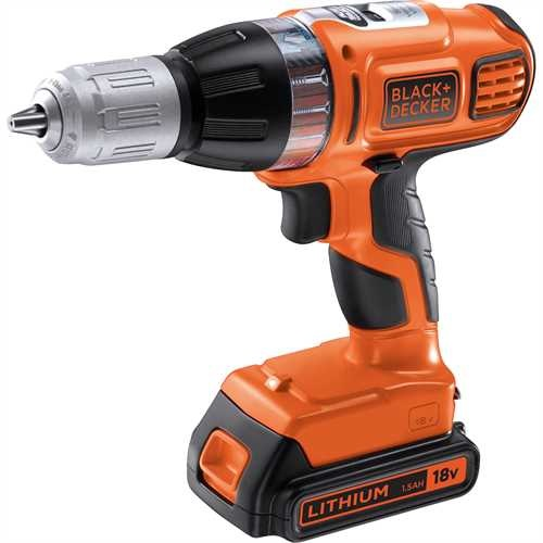 Black And Decker - TrapanoAvvitatore a percussione Autoselect 18V Litio in valigetta doppia batteria - ASL188KB