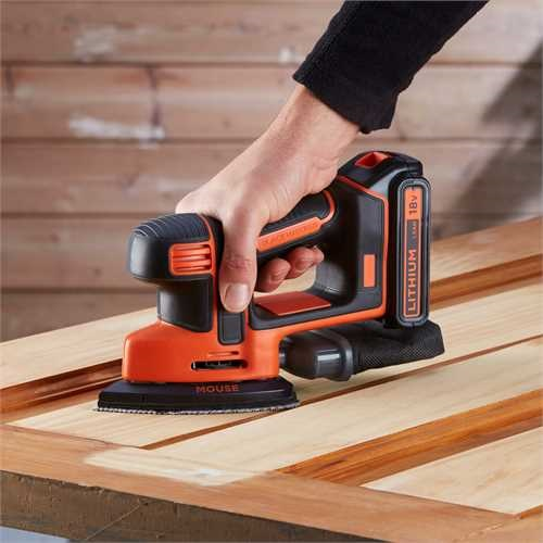 Black and Decker - Levigatrice Mouse 18V Litio - BDCDS18