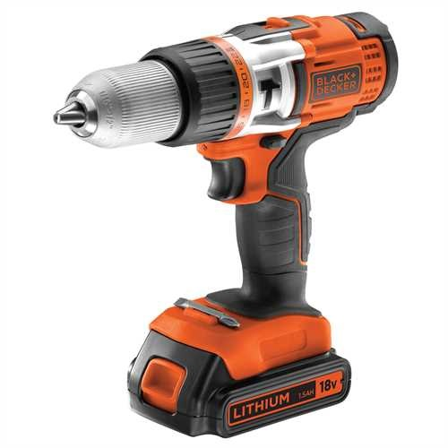 Black and Decker - TrapanoAvvitatore a percussione 18V Litio in valigetta - EGBHP1881K