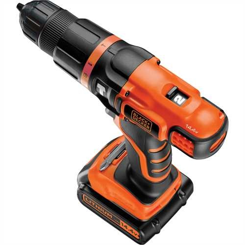 Black and Decker - TrapanoAvvitatore a percussione 144V Litio in valigetta - EGBL148K