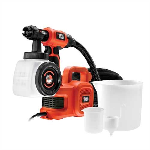 Black and Decker - Pistola a spruzzo con base da terra - HVLP400
