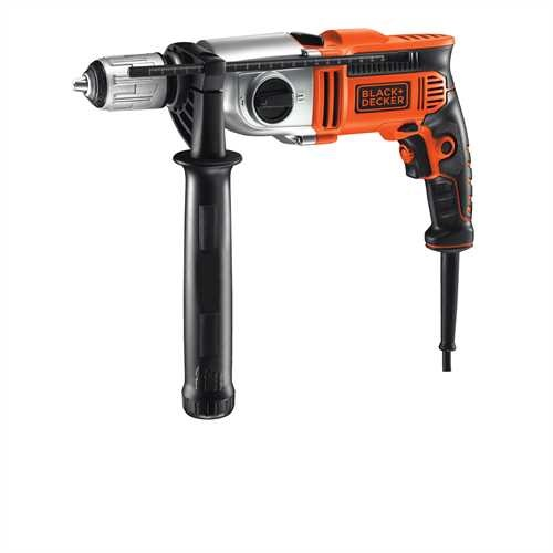 Black and Decker - Trapano a percussione 1100W a 2 velocit meccaniche in valigetta - KR1102K