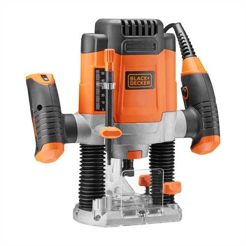 Black and Decker - Elettrofresatrice 1200W in valigetta con 6 frese - KW1200EKA