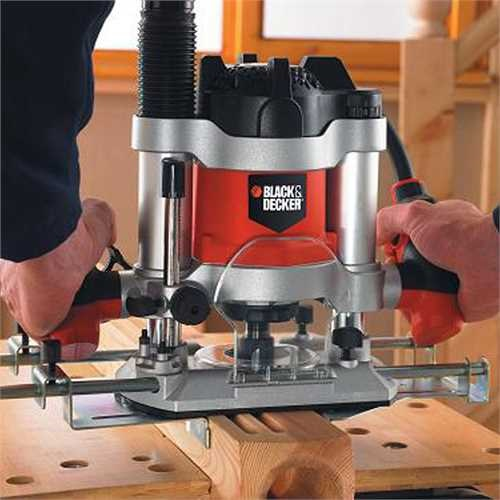 Black and Decker - Elettrofresatrice 1600W in valigetta con 6 frese - KW1600EKA